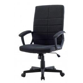 Čalouněné kancelářské křeslo černé barvy F1031