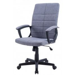 Čalouněné kancelářské křeslo šedé barvy F1031