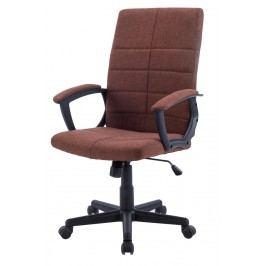 Čalouněné kancelářské křeslo hnědé barvy F1031