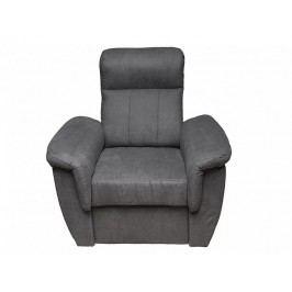 Křeslo pohodlné v šedé barvě s opěrkou hlavy MODENA