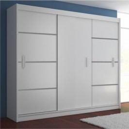 Skříň věšáková 3 dveře, bílá/ černá, MERINA 250