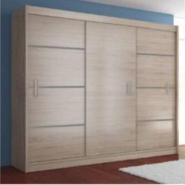 Skříň věšáková 3 dveře, dub sonoma / šedá, MERINA 250