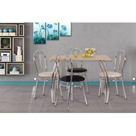 Jídelní stůl s oblými chrom.nohy 80x100, DAKO II