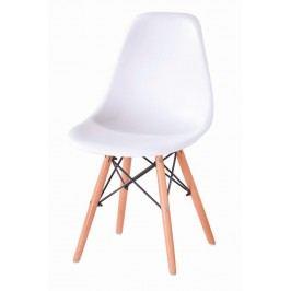 Jídelní židle s ergonomickým tvarem F501 bílá
