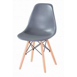 Jídelní židle s ergonomickým tvarem F501 šedá