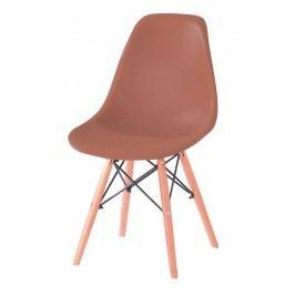 Jídelní židle s ergonomickým tvarem F501 hnědá