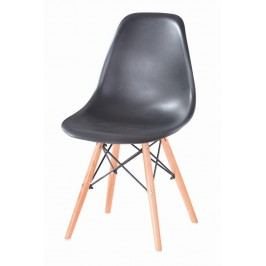 Jídelní židle s ergonomickým tvarem F501 černá
