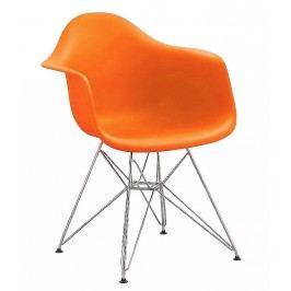 Jídelní židle - křeslo KN505 oranžová