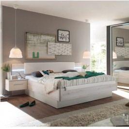 Manželská postel se 2 nočními stolky a osvětlením TK080