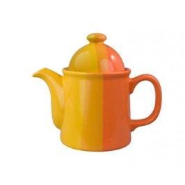 Konvice keramická 1,3 l, oranžovožlutá