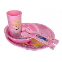 Dětská jídelní plastová sada PRINCESS, 5 ks, OK