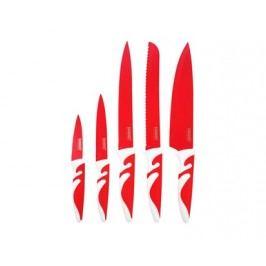 Sada nožů s nepřilnavým povrchem SYMBIO NEW Rosso, 5 ks