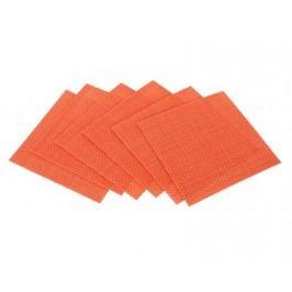 Sada prostírání CULINARIA Orange 10 x 10 cm, 6 ks