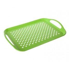 Tác protiskluzový plastový 46 x 32 x 4,5 cm, zelený