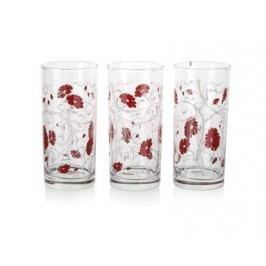 PASABAHCE Sada sklenic ISTANBUL 290 ml, 3 ks, červená serenáda