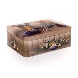 Plechovka LAVENDER 20 x 15,5 x 8 cm, box na čaj
