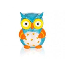 Dóza keramická OWL 470 ml, 10,4 x 10,2 x 13 cm