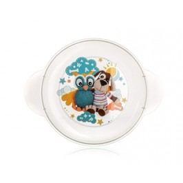 Dětský plastový mělký talíř   234x183x24 mm, motiv: Owl