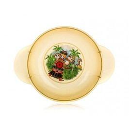 Dětský plastový hluboký talíř  208x158x44 mm, motiv: Monkey