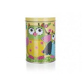 Plechovka OWLS ROUND SMALL 7,5 x 11 cm