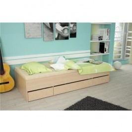 Jednolůžková postel 90x200cm v dekoru buk TK051