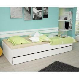 Jednolůžková postel 90x200 bílá TK051