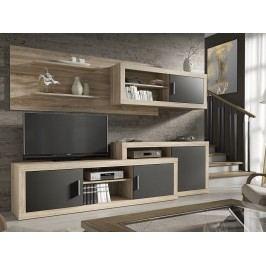 Obývací stěna OPALO dub sonoma/šedá