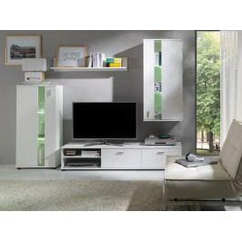 Obývací stěna z lamina bílé barvy F1034