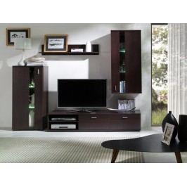 Obývací stěna z lamina tmavě hnědé barvy F1034
