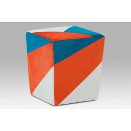 Taburetka modrá, oranžová, krémová TAB-107 ORA2