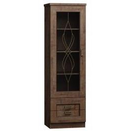 Vitrína levá v moderním dekoru dub lefkas typ T10 KN079