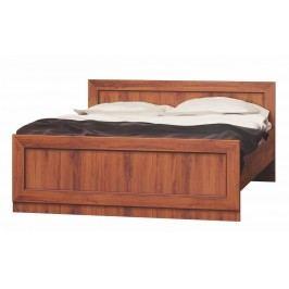 Manželská dřevěná postel v provedení dub stoletý typ T20 KN079