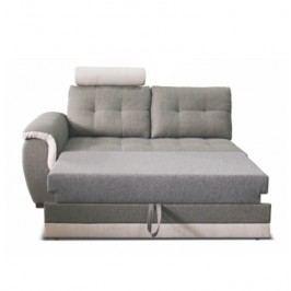 Dvojsed se záhlavníkem a područkou  v jednoduchém moderním provedení šedé a krémové TK083