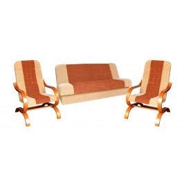 Elegantní sedací souprava v oranžové barvě F1016