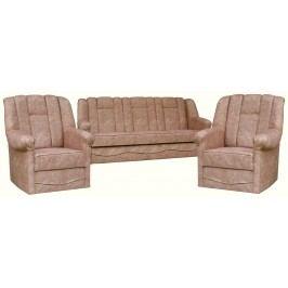 Rozkládací sedací souprava s úložným prostorem v béžové barvě 3+1+1 F1046