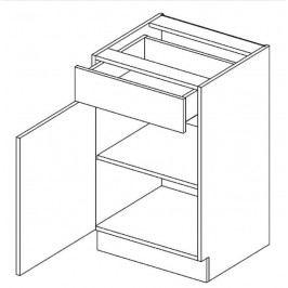 Skříňka dolní 50cm ANNA D50 S/1 levá