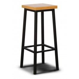 Barová dřevěná židle v dekoru dub typ L3 KN092