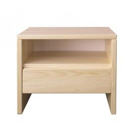 Dřevěný noční stolek se zásuvkou typ NS121 KN095