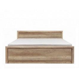 Manželská postel KOEN 2 LOZ/160 A dub monument 160x200 cm