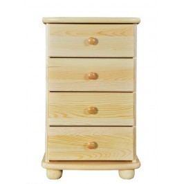 Dřevěná komoda se 4 zásuvkami typ DK161 KN095