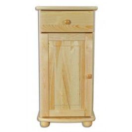 Dřevěná kombinovaná komoda s jednou zásuvkou typ DK158 KN095