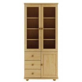Dřevěná praktická vitrína s úložným prostorem typ WK116 KN095