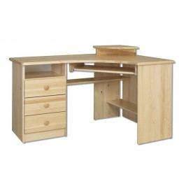 Dřevěný pracovní rohový stůl se zásuvkami typ RB108 KN095