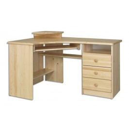 Dřevěný pracovní rohový stůl se zásuvkami typ RB107 KN095