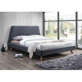 Manželská postel o rozměrech 160 x 200 cm v šedé barvě KN258