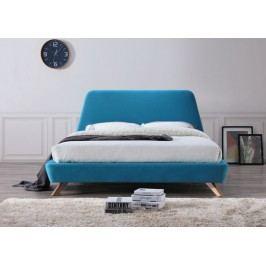 Manželská postel o rozměrech 160 x 200 cm v tyrkysové barvě KN258