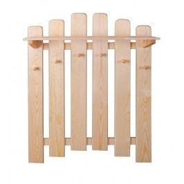 Dřevěný závěsný věšák s policí typ SW134 KN095