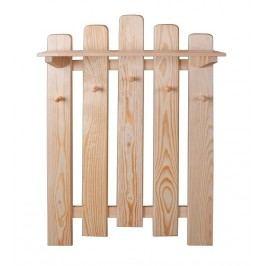 Dřevěný závěsný věšák s policí typ SW133 KN095