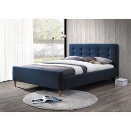 Čalouněná manželská postel v tmavě modré barvě o rozměru 160 x 200 cm KN232