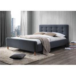 Čalouněná manželská postel v šedé barvě o rozměru 160 x 200 cm KN232